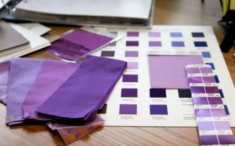 紡織業AI化 透過數位對色系統活化庫存圖片
